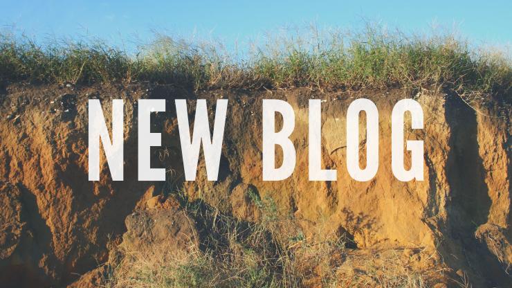 New Blog Title, eroded shoreline showing soil stratigraphy