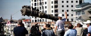 cannon being raised by QAR Team