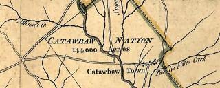 Catawba Nation map Mouzon