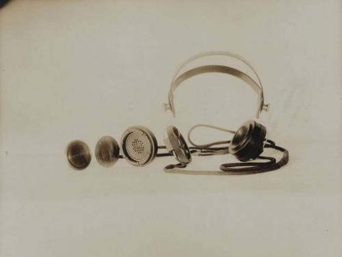 Headphones developed by Reginald Fessenden