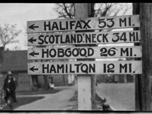 Williamston milage sign (phc.51.f9.4)