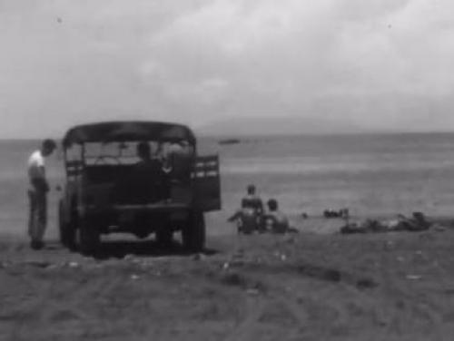 Screenshot of a World War II film from the State Archives YouTube