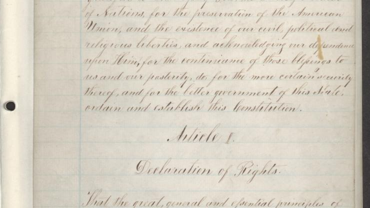 Page 3 of the 1868 Constitution