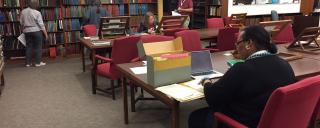 Researchers looking at records in the Search Room