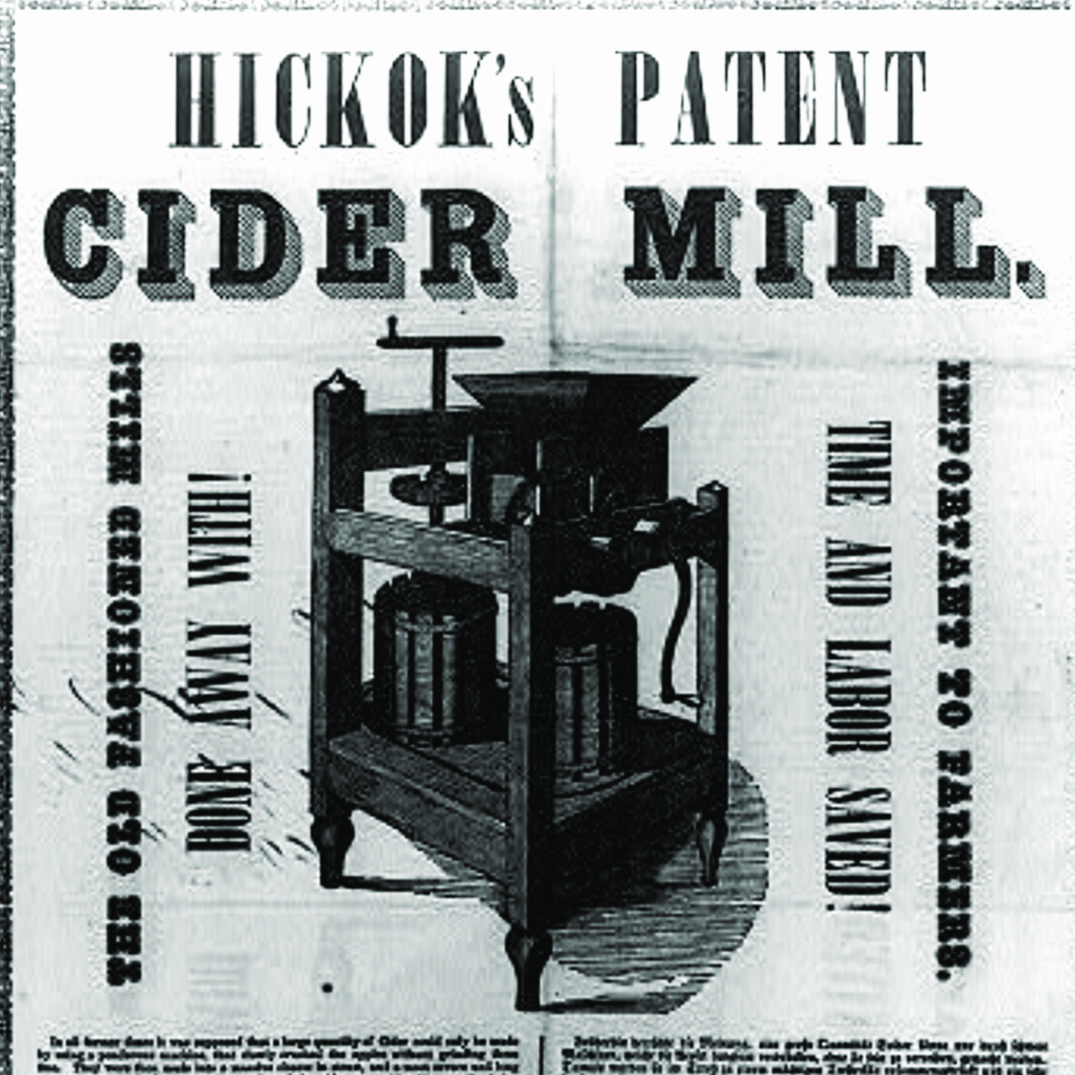 antique advertisement for a cider mill