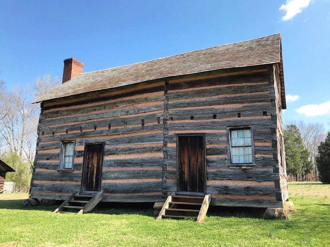 Reconstructed log cabin