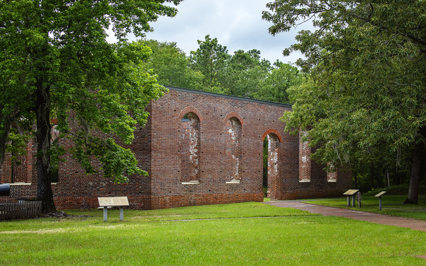 Scene from Brunswick Town Fort Anderson State Historic Site
