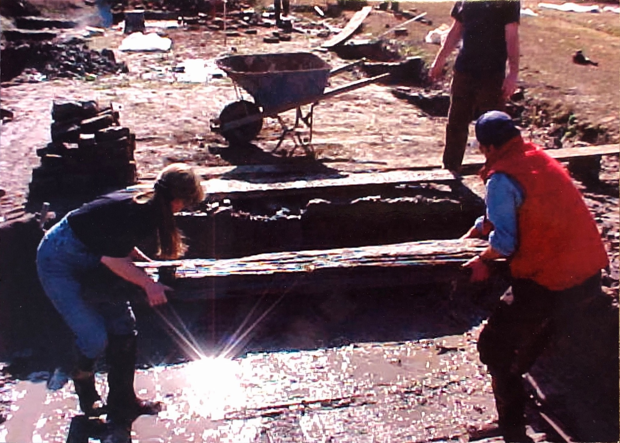 archaeologists working at Somerset Place