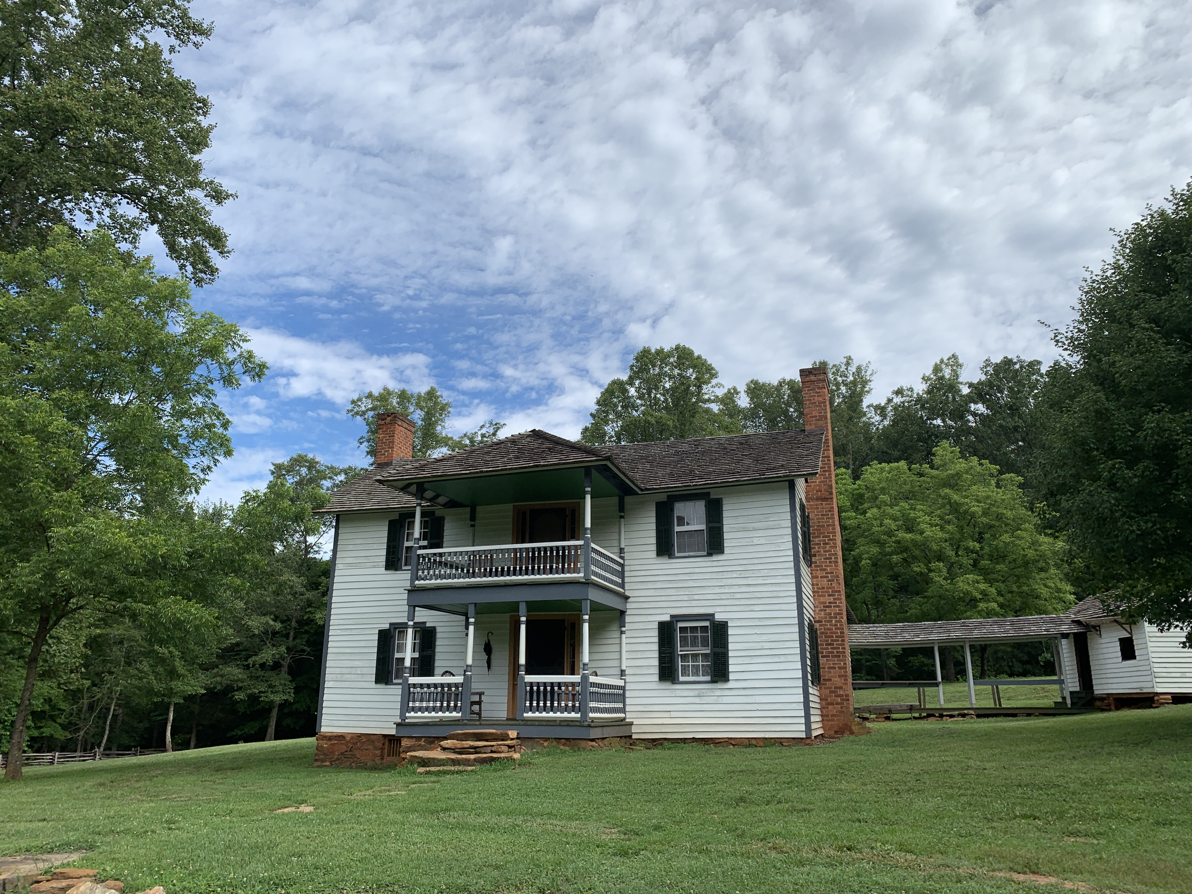 Exterior of the Hauser House at Horne Creek Farm