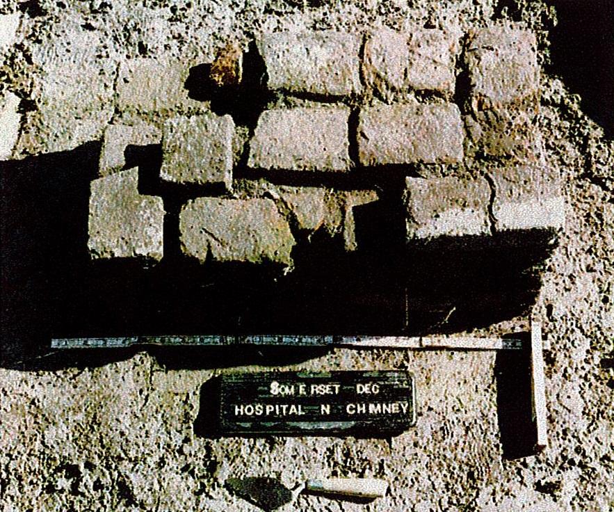 exposed bricks of a hospital pier