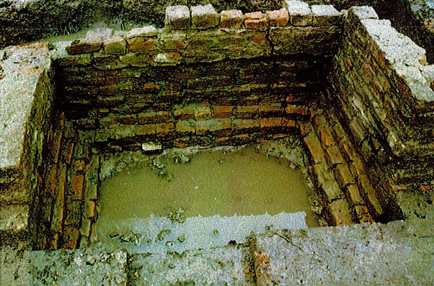 exposed north chimney base