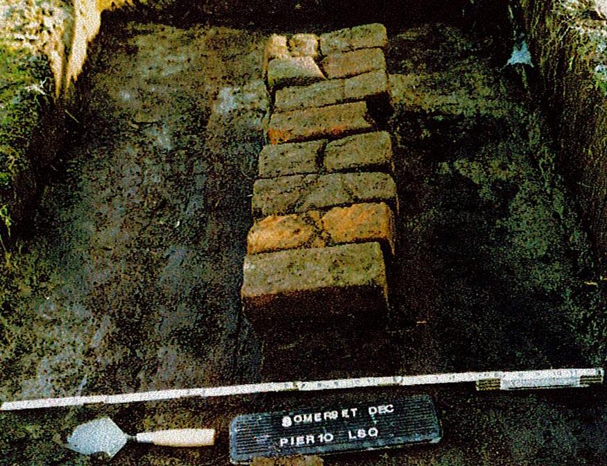 exposed brick of Large Slave Quarter Pier