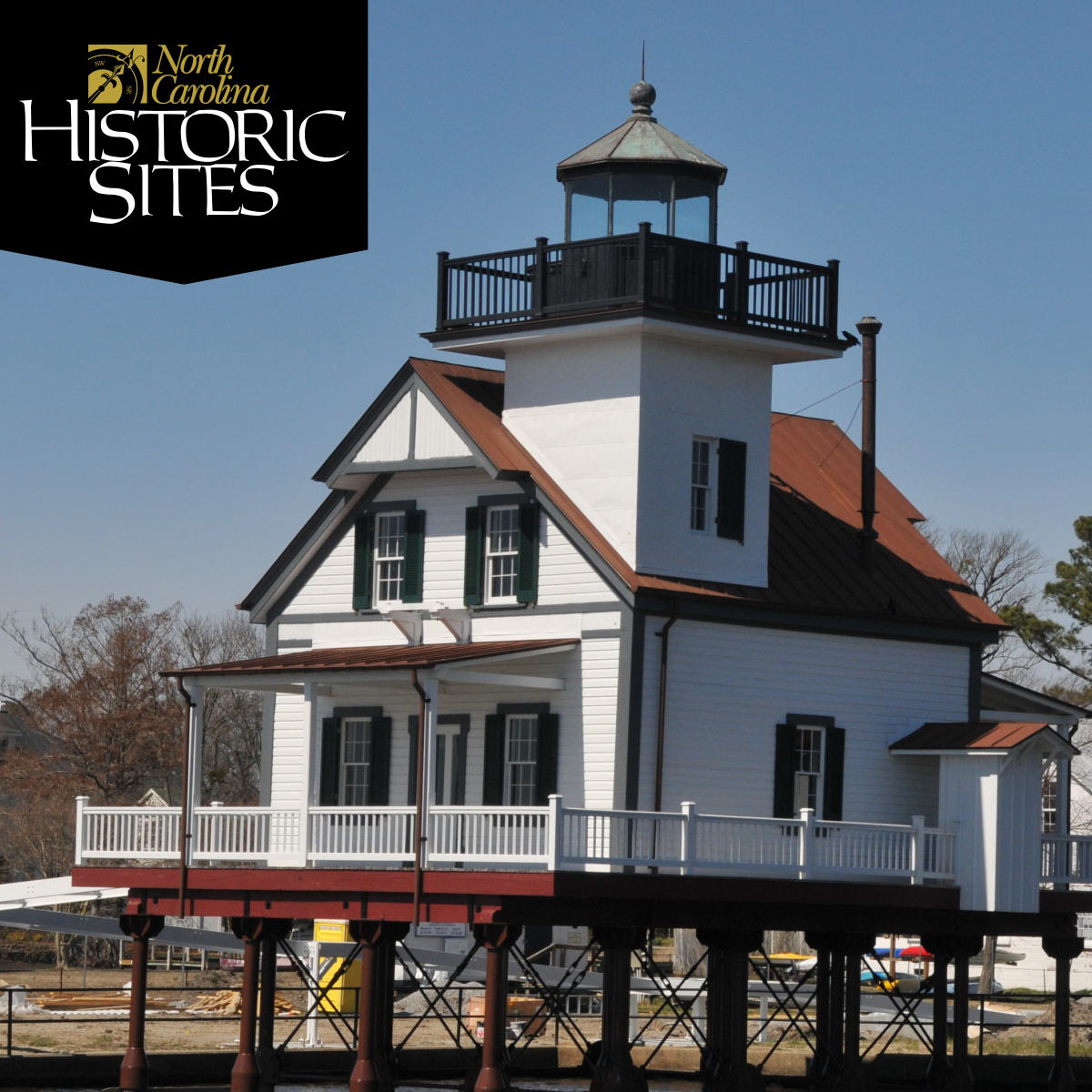exterior of the Roanoke River Lighthouse