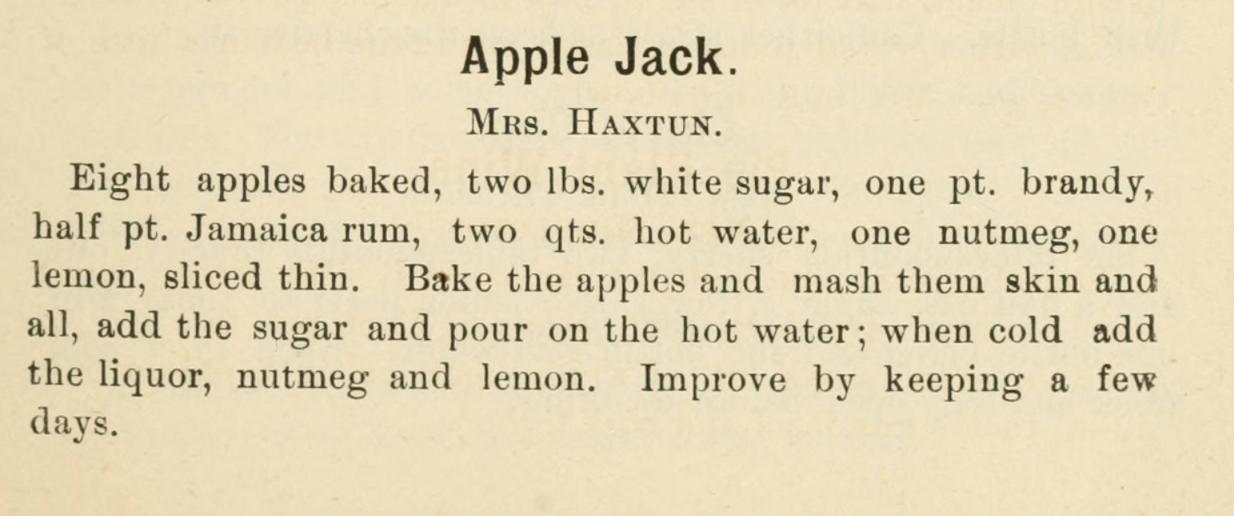 recipe for apple jack