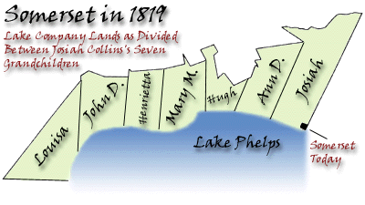 Map of how the land was divided between Josiah III and his siblings