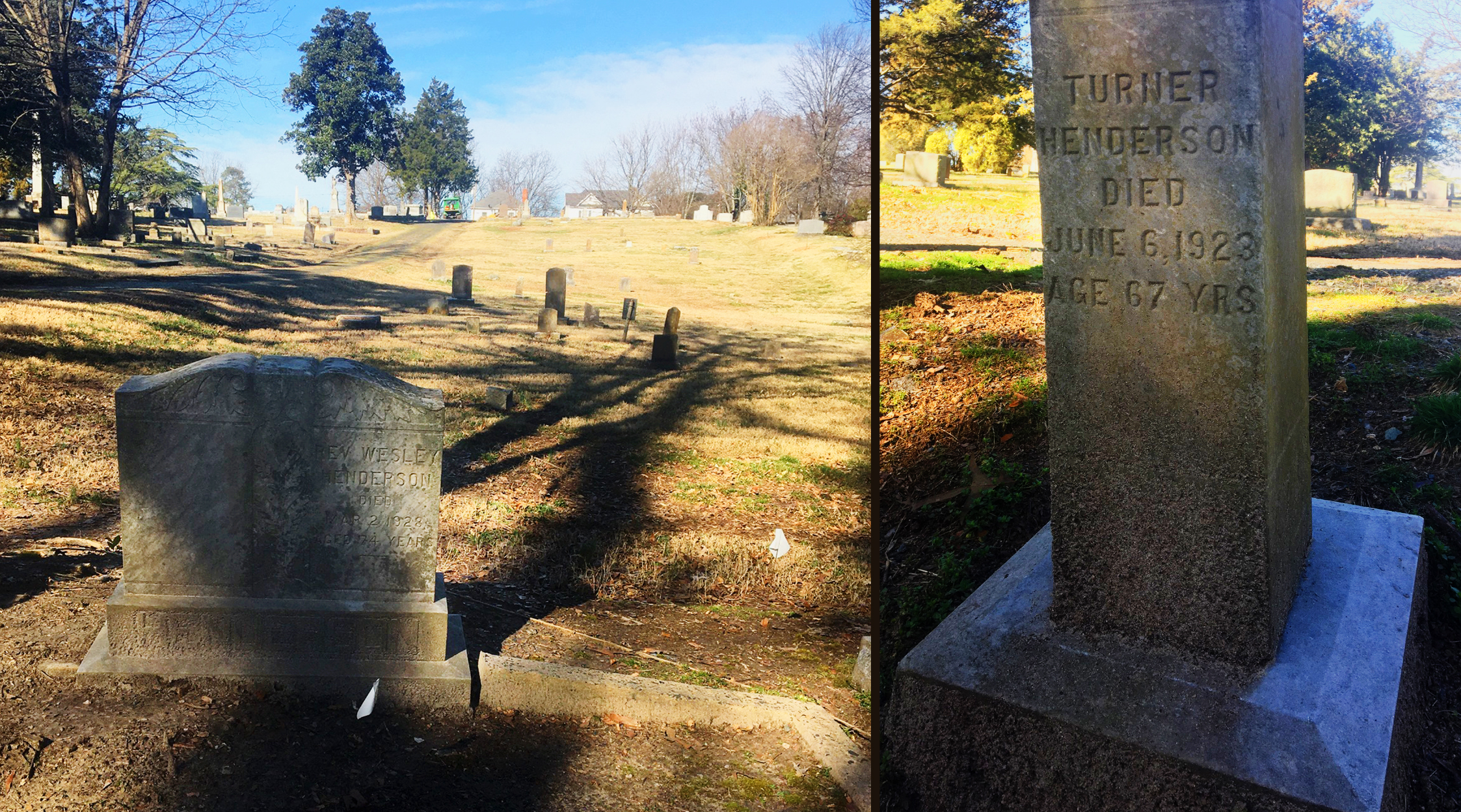 Grave markers of the Henderson family