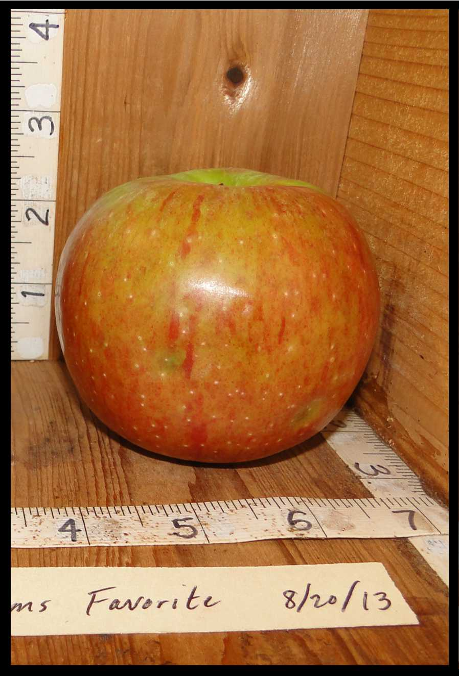 green apple largely covered with light red streaks and blush
