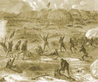 Federal Infantry Attack Fort Fisher January 15, 1865