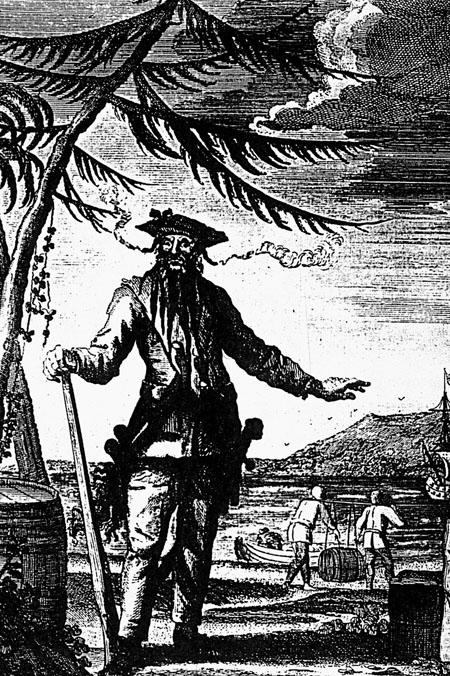 engraving of Blackbeard