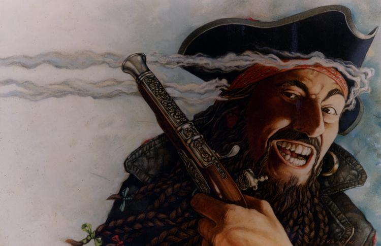 artist's rendering of Edward Teach