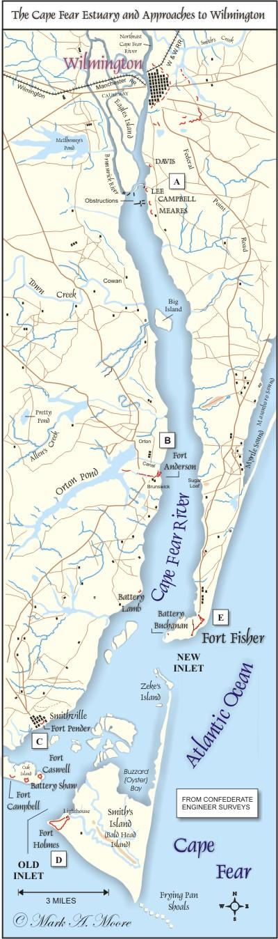 The Cape Fear Estuary.