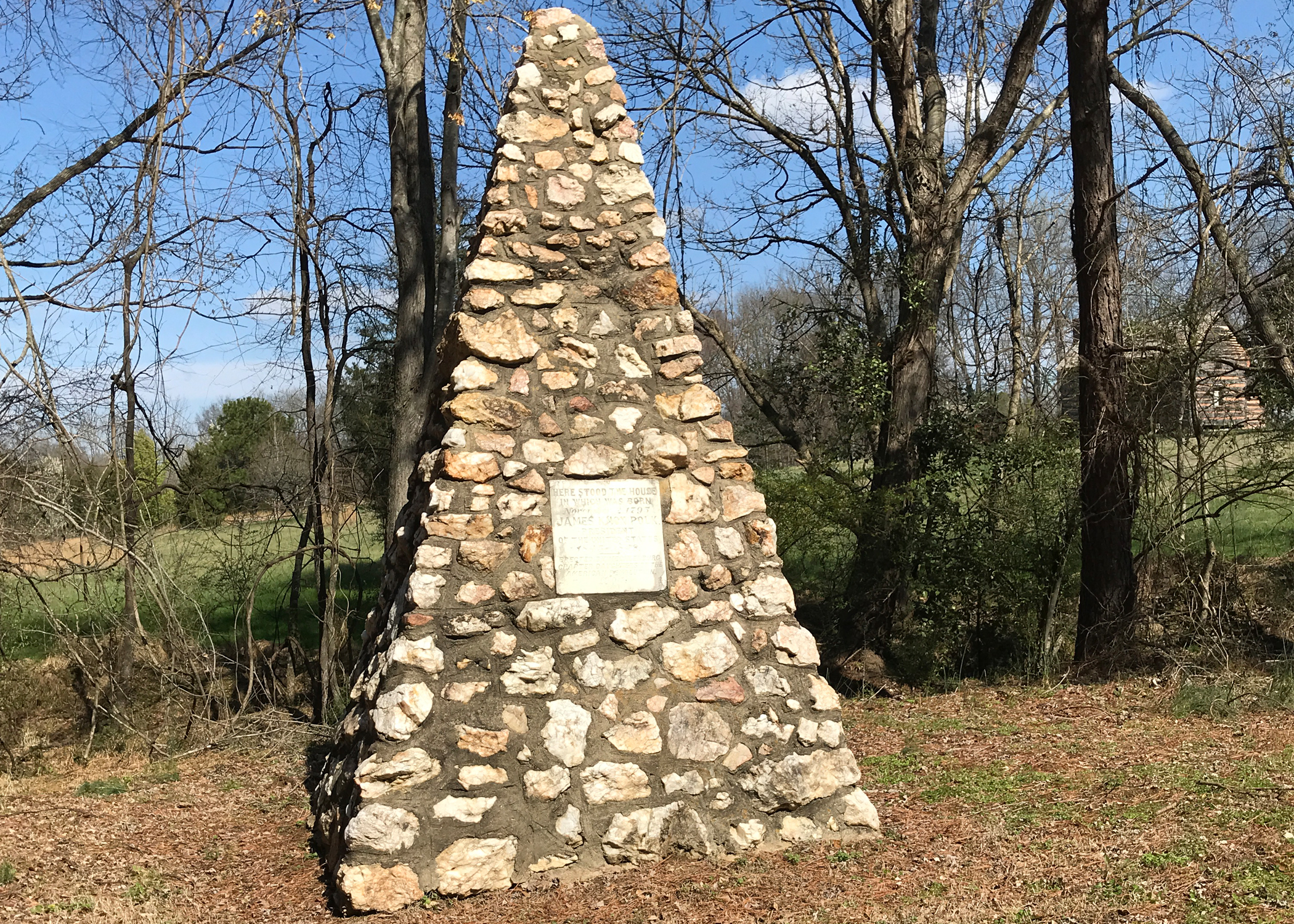 The 1904 Daughters of the American Revolution (DAR) stone monument