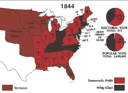 Results of 1844 U.S. presidential election