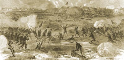Union Army Attack on Fort Fisher - January 15, 1865