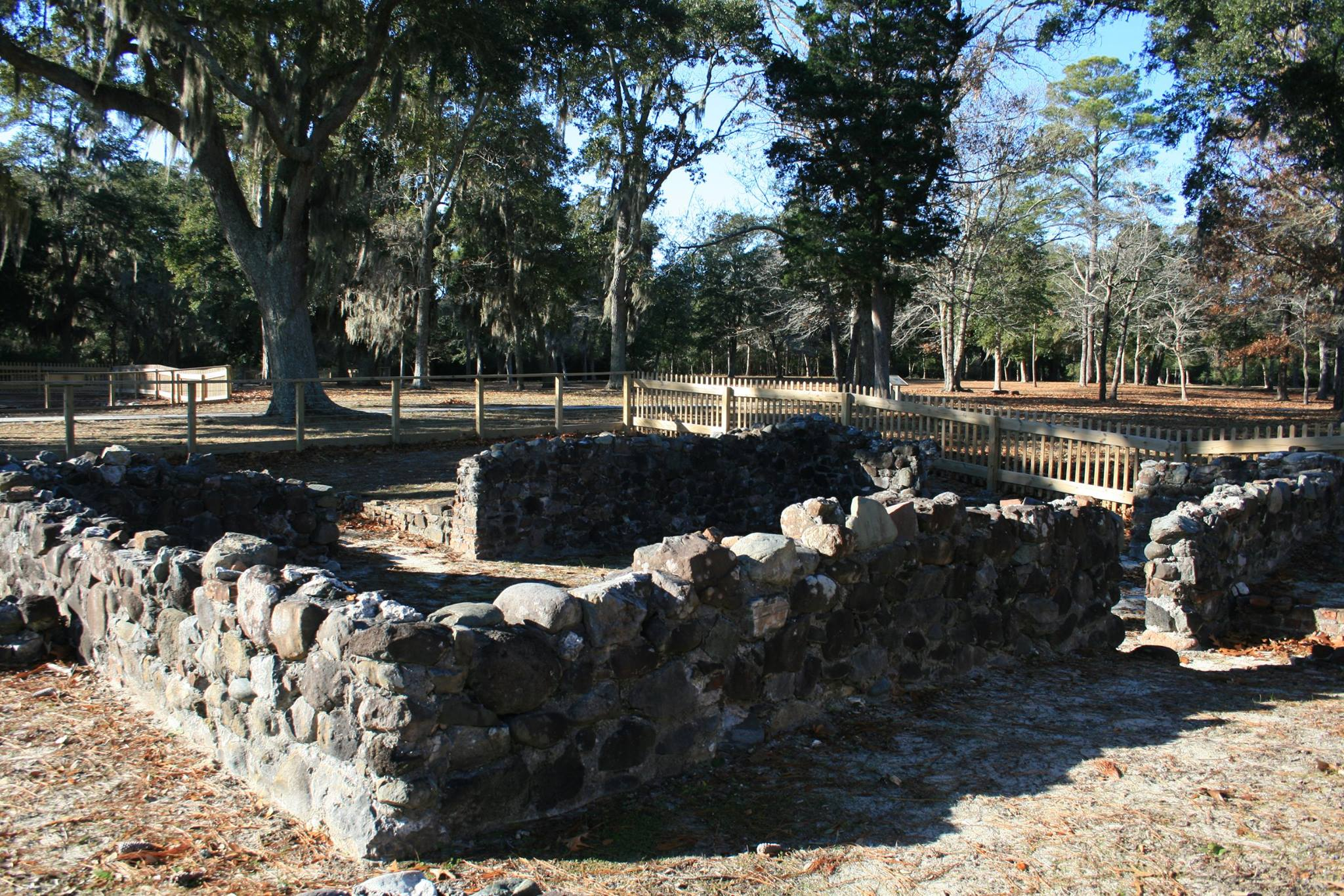 excavated foundation of Fort Anderson