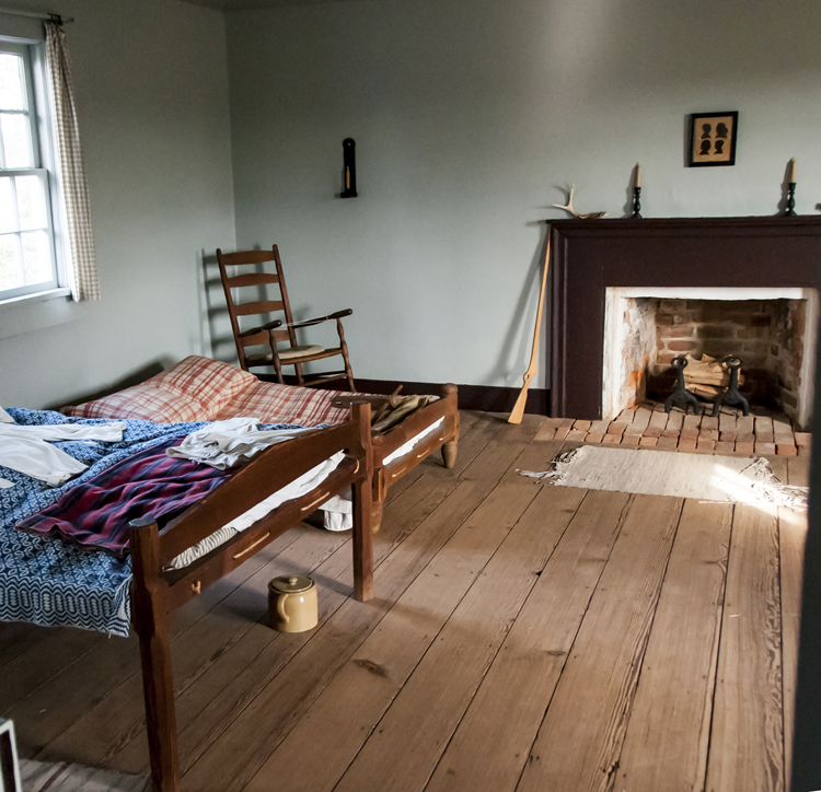 North bedroom of the Alston House