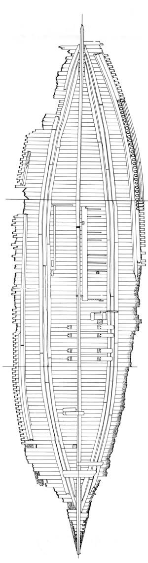 Rendering  of the Existing Hull of the CSS Neuse