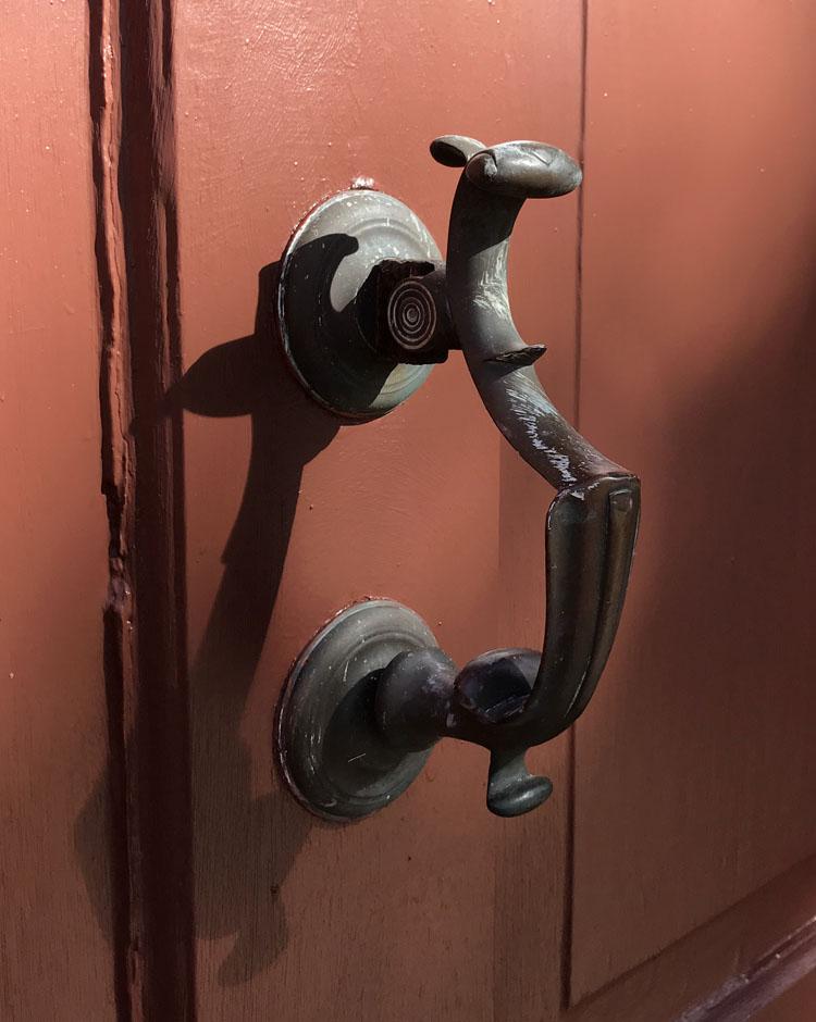 door handle of the Palmer Marsh house