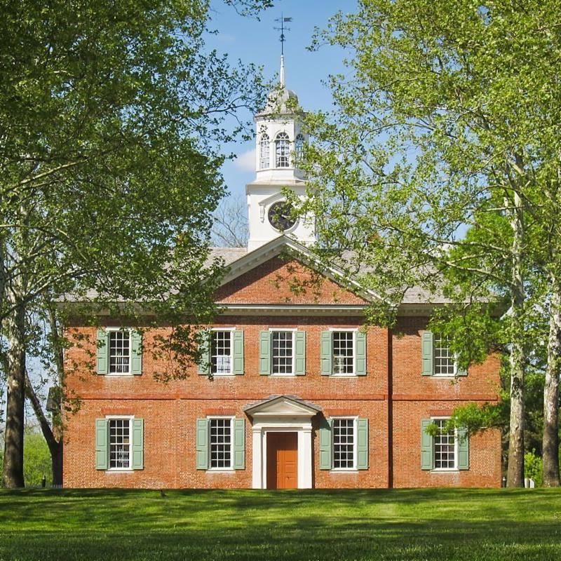exterior of the 1767 Chowan County Courthouse