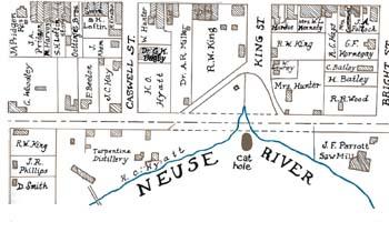 Kinston Map - 1882
