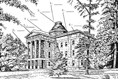 labeled drawing of Capitol
