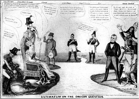 1840s newspaper political cartoon