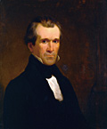 Circa 1840 oil portrait of James K. Polk by Minor K. Kellogg (1814-1889)