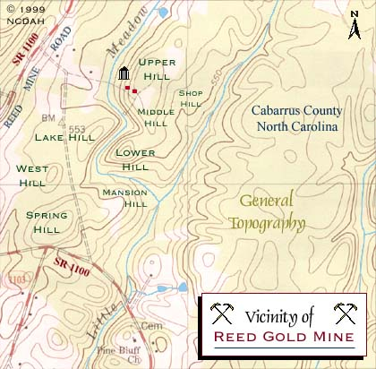 Reed Gold Mine Site Topography