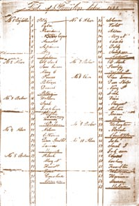 list of enslaved familes