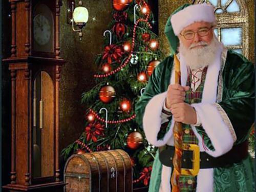 Santa and a Christmas tree