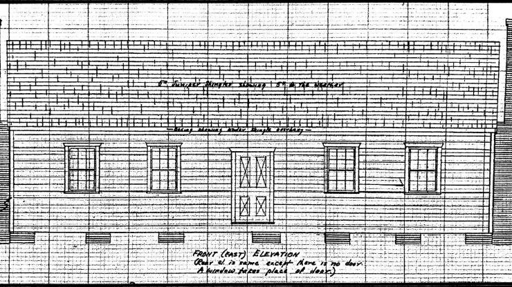 elevation drawing of the lake chapel