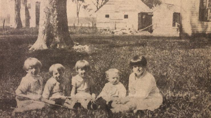 Smith children in the owner's compound