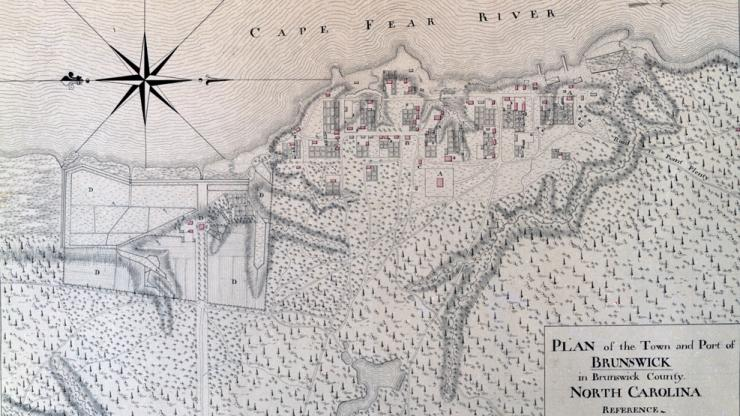 engraving of map of Brunswick Town