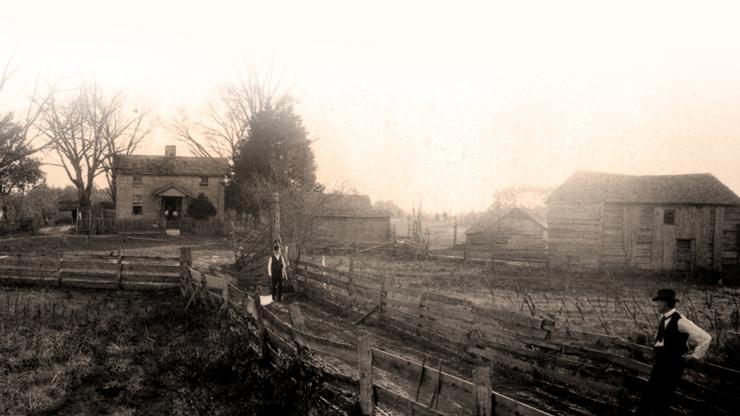 Vintage photo of the homestead