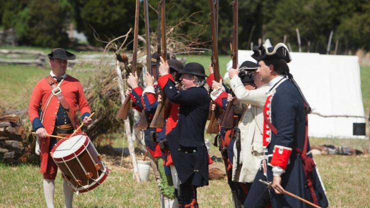 Soldiers at Fort Dobbs