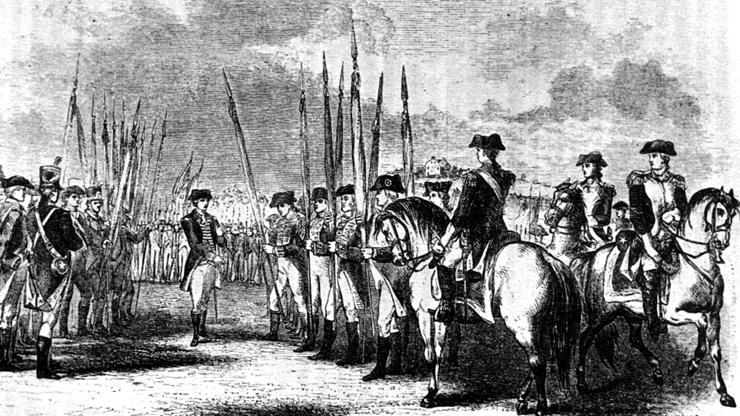engraving of the skirmish at the Alston House