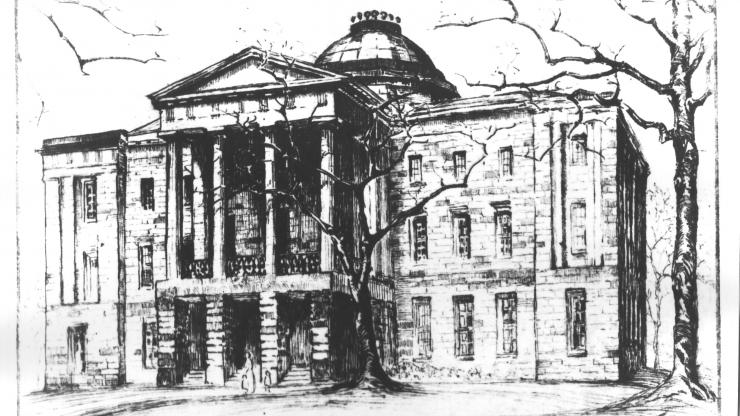 Sketch of the NC State Capitol