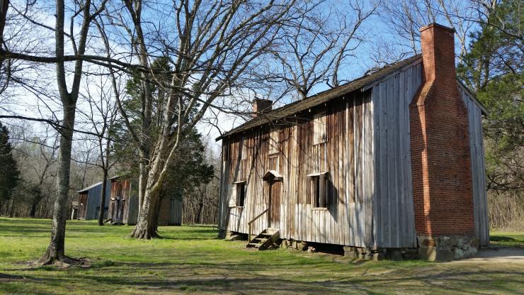 The slave quarters at Horton Grove