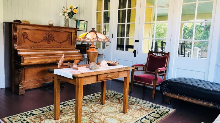 sun parlor inside the Old Kentucky Home
