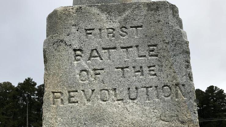 monument at Alamance Battleground